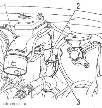 Замена вакуумного усилителя тормозов ситроен с5 Ремонт вала рулевого управления ремонт s max