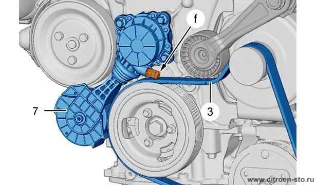 Ситроен С 4 (Citroen C 4 ) замена приводного (ручейкового) ремня своими